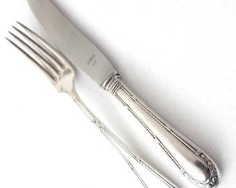 silverware 12 knifs and 12 forks, 90 silver, B.S.F.Düsseldorf, 1900,24 pcs.