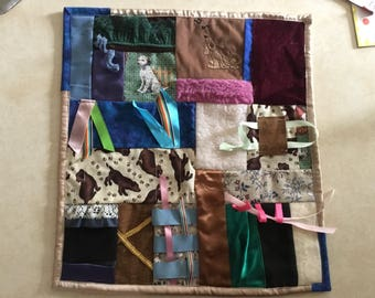 Fidget Quilt / Sensory Blanket - Hound Dog Blues