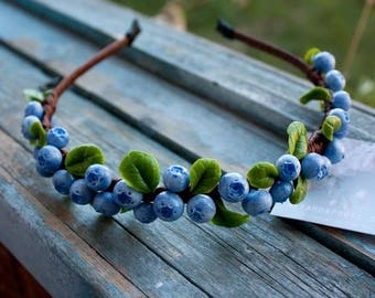 Blueberries Headpiece Blueberry Crown Blueberry Wedding Berry Crown Rustic Crown Forest Crown Forest Wedding