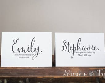Personalized Bridal Party Thank you | Groomsmen | Bridesmaid | Maid of Honor | Best Man | Bridal Party | C04