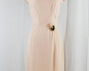 SUMMER SALE 1960's Lady in Pink // Silk Dress // Designer