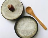 rustic salt cellar with lid