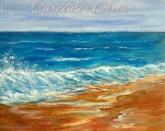 Ocean Beach Seascape Canvas Painting