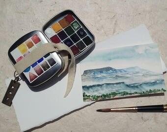 Ochre Gem Watercolor Pocket Tin
