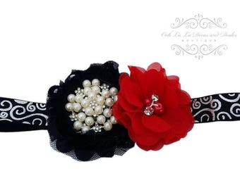 Black Headband/Baby Headband/Baby Headbands and Bows/Infant Headbands/Baby Girl Headband/Girl Headband Baby/Christening Dress/Baby Outfit