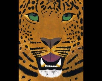 African Leopard Original Painting