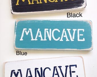 Man Cave Wooden Hanging Sign vintage distressed with copper wire