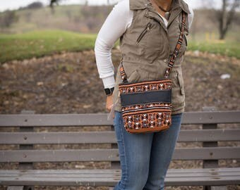 Crossbody bags for women, African bag, triple zip crossbody, purses for women,  mudcloth bags, cross body purse, travel crossbody purses