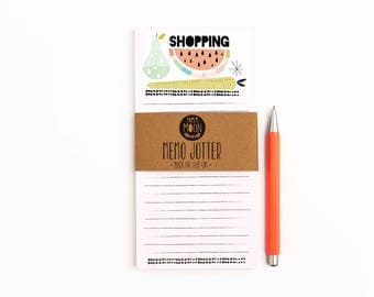 Shopping Memo Jotter