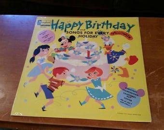 Walt Disney lp Happy Birthday sealed 1964