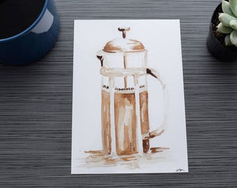 Coffee Art - Coffee Art Print - Coffee Art Painting - Coffee Decor - Coffee Wall Art - Unique Coffee Art - Coffee Artwork - Coffee Art Print