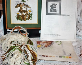 Dimensions Needlepoint kit Springtime Bunny #2096 Vintage 1978 out of package