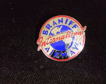 vintage BRANIFF INTERNATIONAL Airways Logo pin badge
