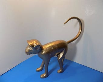 NEW Rare Modern Iron Gold Monkey Sculpture Collectible Figurine Animal  Art Deco Home Decor Gift