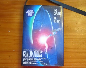 "Journal/Diary made from Used Book 'Star Trek Generations' by J.M. Dillard ""It's a Hidden in Plain Sight Journal"""
