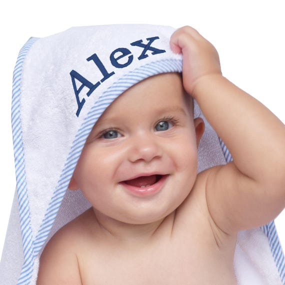Monogrammed Hooded Baby Towel Hooded Towel Baby Baby Hooded