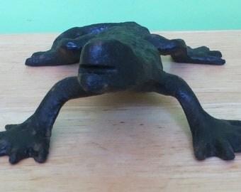 Antique Cast Iron Lizard Figurine