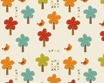 SALE Giraffe Trees Birds Fabric Giraffe Crossing Fat Quarter Riley Blake Giraffe Trees Cream C2851-CREAM