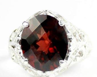 On Sale, 30% Off, Mozambique Garnet, 925 Sterling Silver Ring, SR114