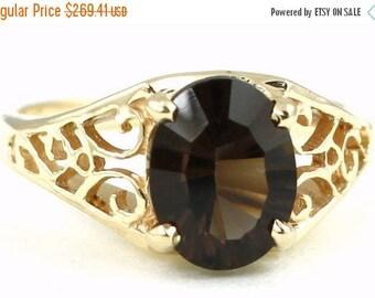 On Sale, 30% Off, Smoky Quartz, 14KY Gold Ring R005