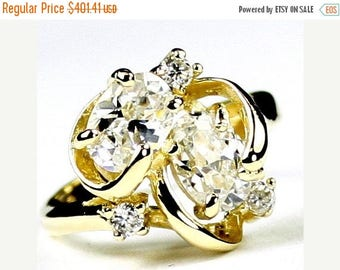 On Sale, 30% Off, Cubic Zirconia, 14Ky Gold Ring, R016