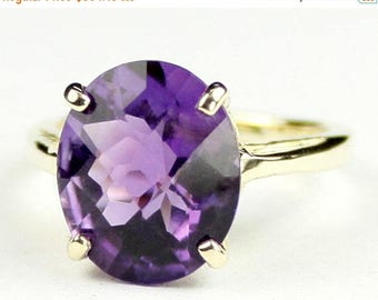 On Sale, 30% Off, Amethyst, 14Ky Gold Ring, R055