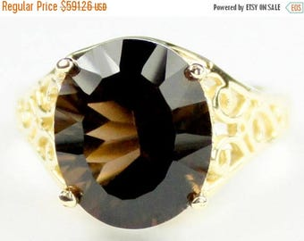 On Sale, 30% Off, Smoky Quartz, 14KY Gold Ring, R057