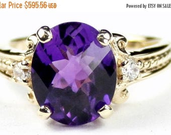 On Sale, 30% Off, Amethyst, 14KY Gold Ring, R136