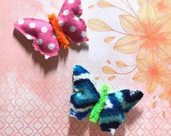 Butterfly Cat Toys, Baby Felt Catnip Toys, Valerian, Kitten Play, Kitten Toys, Unique Cat Toys, Kitten Toys, Handmade Toys