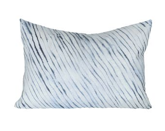 READY TO SHIP - 13x19 Rebecca Atwood Blurred Stripe designer pillow cover (sized for 13x21 insert)