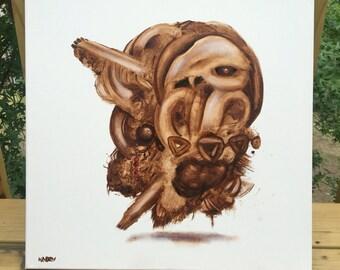 Owl Pellet Soul original painting by Brendan Kadey