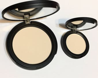 SOFT IVORY Natural Mineral Pressed Foundation or Setting Powder - Gluten Free Vegan Makeup