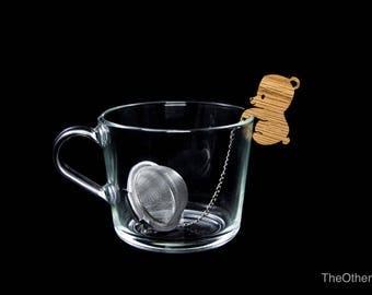 Tea Buddy™ Bear tea inrfuser, loose leaf tea, tea steeper, mesh tea ball, tea gift ideas, animal lovers gift, tea accessories, tea charm