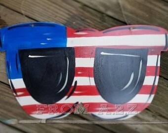 Patriotic Sunglasses Door Hanger Fourth of July