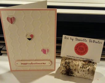 Honey Comb Heart Valentines Day Card