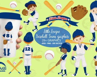 Baseball clipart, Yankee Blue clipart, Baseball Team clipart, Commercial use, vector graphics, digital images, AMB-1227