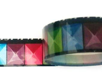 Decorative tape, masking tape 2 m about multicolored pattern