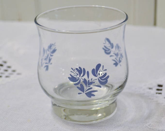 Vintage Pfaltzgraff Yorktowne Juice Glass Short Tumbler Libbey Blue Glassware Replacement PanchosPorch
