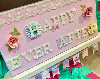Happy Ever After Wedding sign - half price