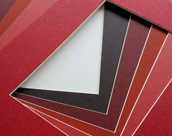 8x10 Assorted Red Matting - Single Mat Pack of 5 - for art prints and photography