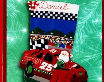 "Christmas 500 ~ 18"" Bucilla Felt Christmas Stocking Kit #84185"