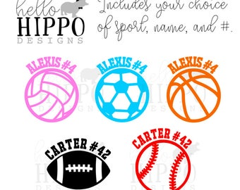 Volleyball Decal Etsy - Custom car decals baseball