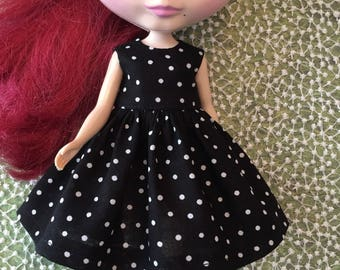 Black and White Dot Dress