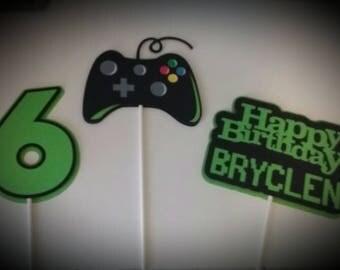 Gamer Birthday Party - Birthday Party Centerpiece Sticks - Video Game Party Centerpiece Sticks - Party Decoration Sticks Set of 3