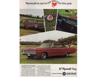 Poster advertisement of a 1967  Plymouth Fury -30