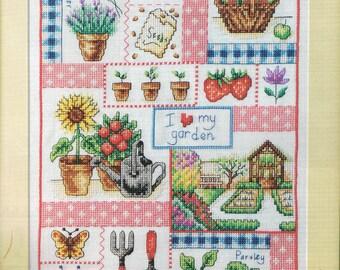 CROSS STITCH PATTERN - I Love My Garden Garden Is Cross Stitch Pattern - Sampler Cross Stitch Chart