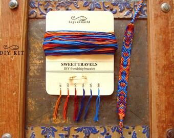DIY Firendship Bracelet Kit 'Sweet Travels', Bracelet Kit, DIY Bracelet, DIY kit, Friendship Bracelet Tutorial, Jewelry Making Kit Diy (004)