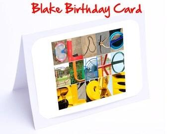 Blake Personalised Birthday Cards