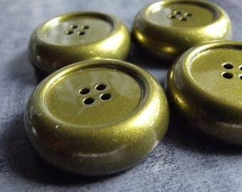 8 large buttons 25 mm in diameter and 8mm thick metal color bronze
