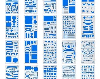 Bullet Journal Stencil Template Planner Scrapbooking Supplies  Papercraft DIY Projects - YOU CHOOSE